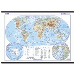 Nástěnná obecně zeměpisná mapa - ŠKOLNÍ